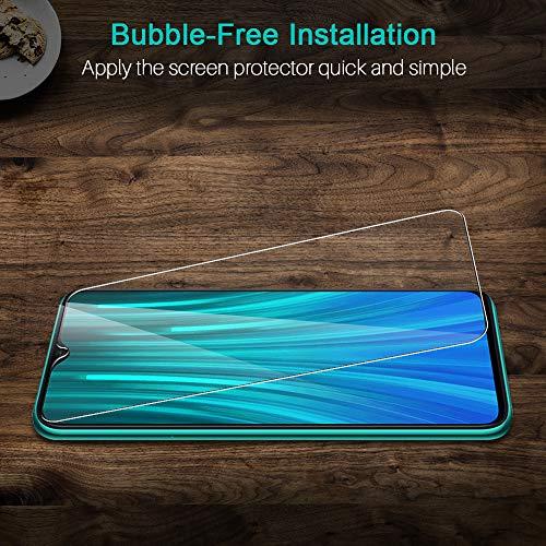 LK Pellicola Protettiva per Xiaomi Redmi Note 8 PRO Vetro Temperato3Pezzi 9H Durezza Protezione Schermo Screen Protector Strumento per Una Facile Installazione Alta Trasparente
