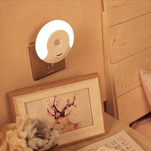 Luce notturna led con sensore di movimento risparmio energetico Luce da Presa per Parete corridoio bagno soggiorno camera da letto3 Modalit AutoOnOff bianco caldo