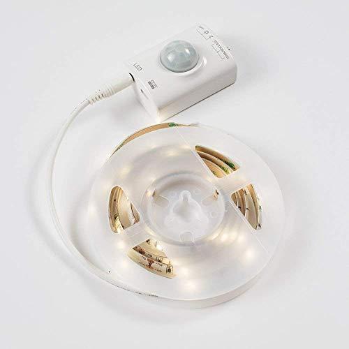Luce Notturna LED OriFiil 1M 30LED Striscia LED Sensore di Movimento USB Batteria Ricaricabile Luce LED da guardaroba Magnetica Adesiva Luce Notte per Armadio Scale Corridoio Cucina Garage etc