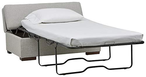 Marchio Amazon Rivet ottomana a divanoletto stile moderno larghezza 122 cm colore grigio chiaro