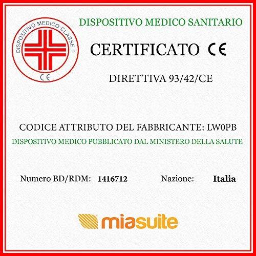 miasuite i sogni italiani Materasso Singolo 80x190 Alto 12 Cm  Pieghevole Traspirante Dispositivo Medico  Primavera