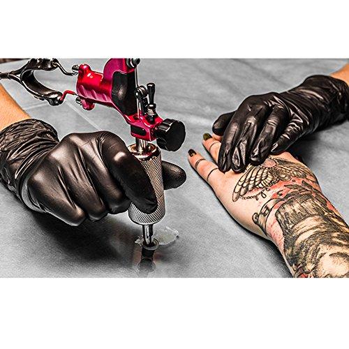 monouso in nitrile Guanti medicali Nero senza polvere box  100 pezzi  ideale per tatuatori medicine hobby e giardinaggio Xtra Large