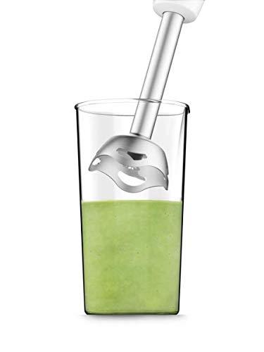 Moulinex DD4521 Easychef Mixer ad Immersione 2in1 con Bicchiere da 800 ml e Accessorio Tritatutto da 500 ml 2 Impostazioni di Velocit Facile da Pulire Potenza 450 W