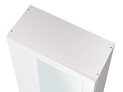 Movian scarpiera con sportello singolo e specchio in stile moderno modello Indre 23 x 50 x 179 cm colore bianco