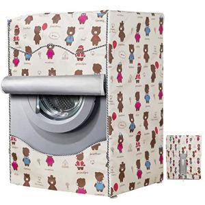 Mr You Copertura Lavatrice per EsternoCopertura Impermeabile per Lavatrice e Asciugatrice di Carica Frontale Bear 60 x 60 x 85 cm