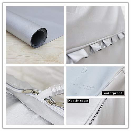 MrYou Copri Lavatrice per Lavatrici e Lavatrice con Ruote OndulateMTele Standard