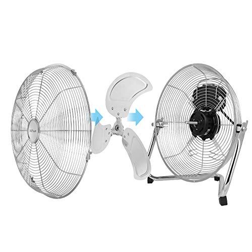 MVPower Ventilatore da Tavolo Ventilatore da Scrivania Ventola da Pavimento in Metallo da 12 Pollici Forza del Vento Alta 55 W Impostazione a Tre Velocit Inclinazione di 110  Portatile