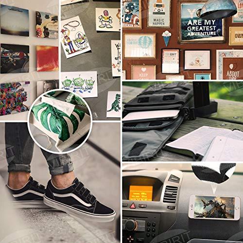 Nastro autoadesivo di fissaggio posteriore VIBIRIT Nastro Gancio e Anello Auto Adesivo alta qualitper Ideale per tende finestre e DIY