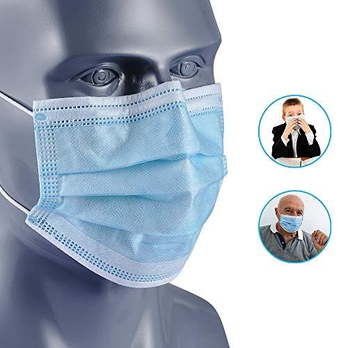 NUR maschere facciali monouso a 3 strati con occhiello elastico taglia unica per tutte confezione da 10 pezzi