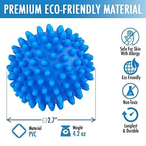 Palle Asciugatrici  Riutilizzabili Resistenti Palle per Bucato e Asciugatrice  Funzione Ammorbidente Naturale e Antistatica  Velocizza Asciugatura  Garantite Fino a 1400 Cicli di Lavaggio 4 PCS