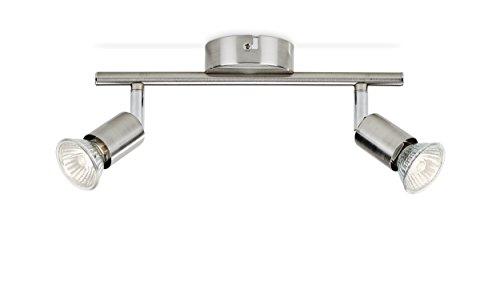Philips Lighting Limbali Lampada Faretti da Soffitto 2 Punti Luce Acciaio