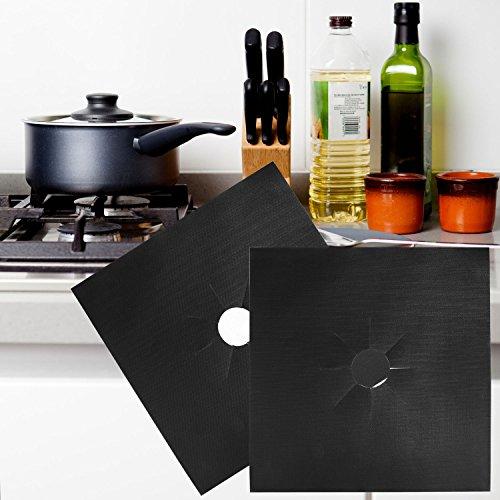 Protezioni per piano cottura con fornelli a gas Ballery protegge i fornelli e il piano cottura della cucina confezione da 8 pezzi Black