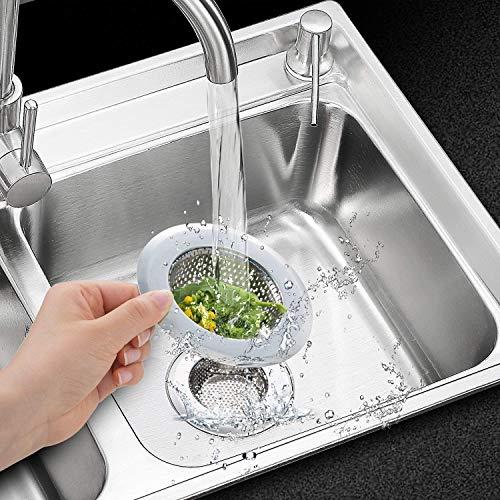 Qinglele 2 Pezzi 275 Filtro per Lavello da Cucina Cucina Sink Strainer in Acciaio Inox filtri per lavandini Vasca da Bagno o lavelli da Cucina 2757cm Piccolo