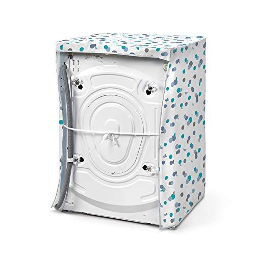 Rayen Medio  Coperchio Caricamento Frontale Copri Lavatrice e asciugatrice con Cerniera  84 x 60 x 60 cm Blu e Bianco