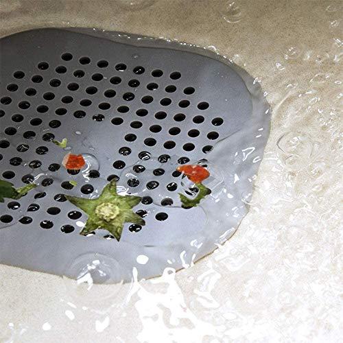 ROBAKO Filtro per Lavello in SiliconeCoperchi di Scarico per DocciaAdatto per Cucina e Bagno4 PezziGrigio e Bianco