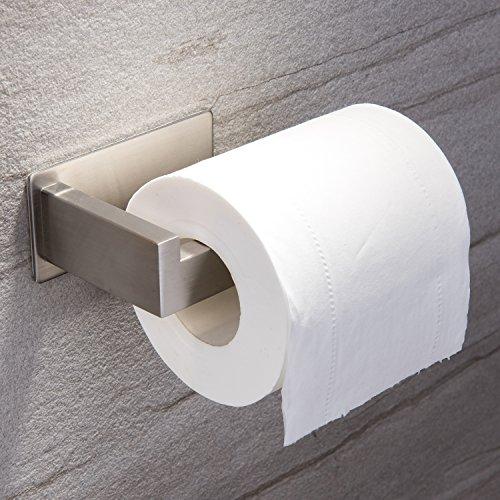 Ruicer Porta Carta igienica Autoadesivo in Acciaio Inox per bagni e WC