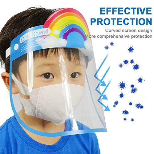 Schermo facciale di sicurezza cappuccio di protezione a tutto tondo con lente antiappannamento trasparente a visiera larga schermo trasparente leggero con elastico regolabile per uomo donna 2 pezzi