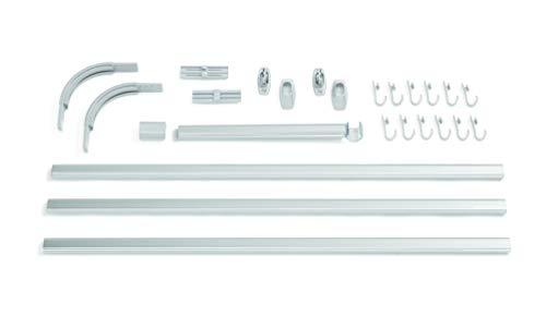 Sealskin Easy Roll Set del Binario per Tenda da Doccia Acciaio Inox Alluminio Opaco