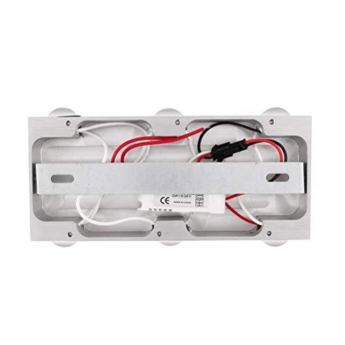 SISVIV LED Applique da Parete Interno Lampada da Parete Moderno in Alluminio Lampada a Muro per Corridoio Soggiorno Camera da Letto Scale 6W Bianco Freddo