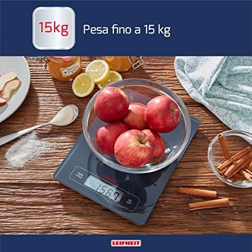 Soehnle Page Profi Pesa Alimenti Elettronica Vetro Nero