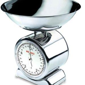 Soehnle Silvia Bilancia da Cucina in Acciaio inox con piatto removibile Bilancia Pesa Alimenti a Vista con 5kg Portata max Bilancia Analogica Design