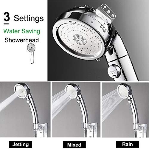 Soffione doccia soffione universale per doccia portatile con interruttore di accensionespegnimento Pausa Soffione doccia a 3 impostazioni con regolazione dellangolazione