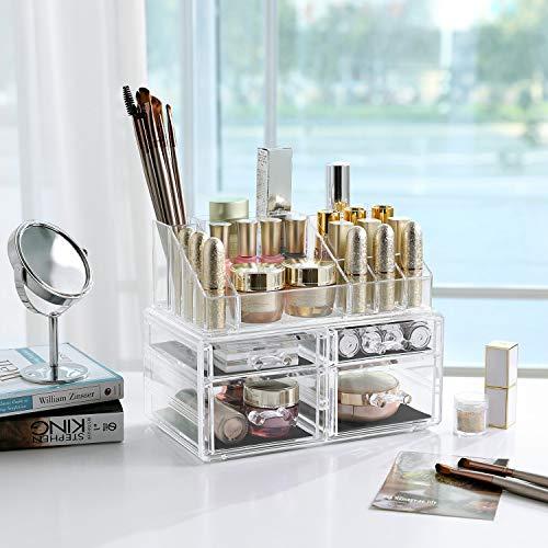 SONGMICS Cosmetic Organizer Scatola Makeup Acrilico JKA005TP