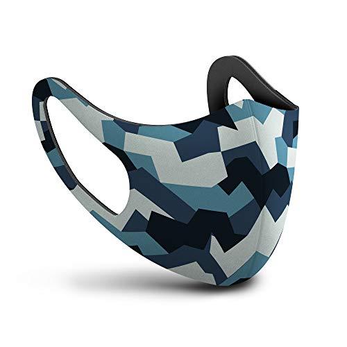SPHERA mascherina lavabile adulto camouflage blu Made in Italy mascherine lavabili chirurgiche classe I tipo I 15 lavaggi Marcatura CE conforme EN 146832019  AC2019 Direttiva Europea 9342EEC