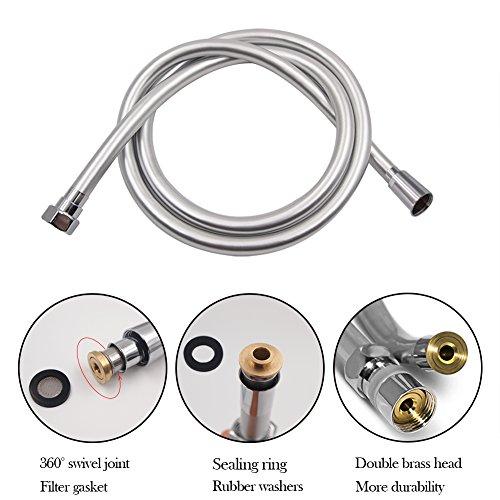 STARBATH Flessibile Doccia in PVC Tubo Doccia 2m Antiesplosione e resistente ad alta temperatura Connettore in Ottone