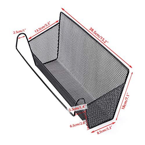 Sumnacon 1 cestino portaoggetti da appendere al comodino ideale per casa ufficio scuola dormitorio letto a castello Nero