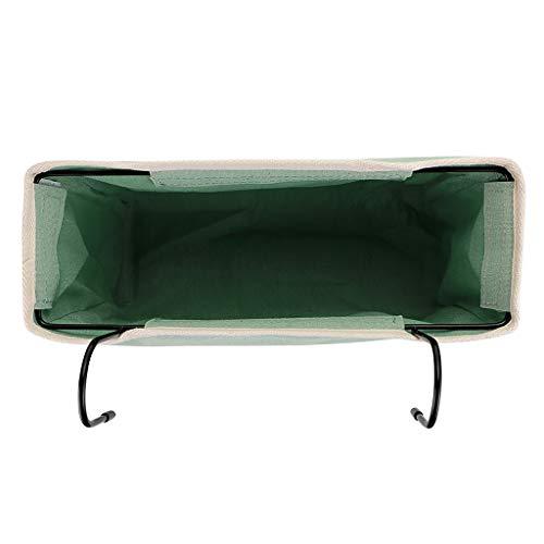 Sumnacon portaoggetti da appendere al comodino con tasche per letto o dormitorio organizer da scrivania per casa ufficio scuola dormitorio letto a castello Verde