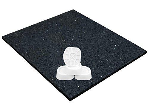 Tappetino e piedini antivibrazione per lavatrici o asciugatrice antiscivolo universale 62x60x06 cm ammortizzatori antivibranti ammortizzatore di oscillazione assorbitore di vibrazioni