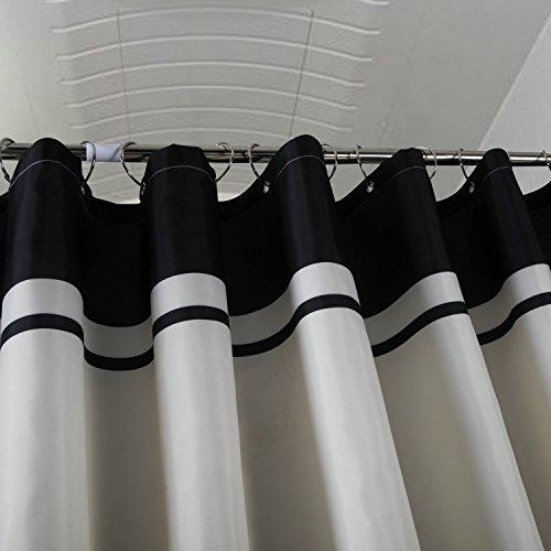 Tenda da doccia in tessuto di poliestere resistente alla muffa con 12 ganci Poliestere Blu 200 x 200 cm