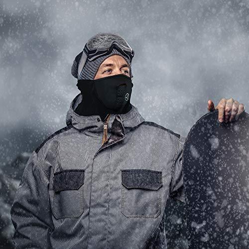 TRIXES Passamontagna a Mezza Faccia e Scaldacollo  Vello e Neoprene  Passamontagna per Lo Snowboard Lo Sci LAirsoft Moto etc