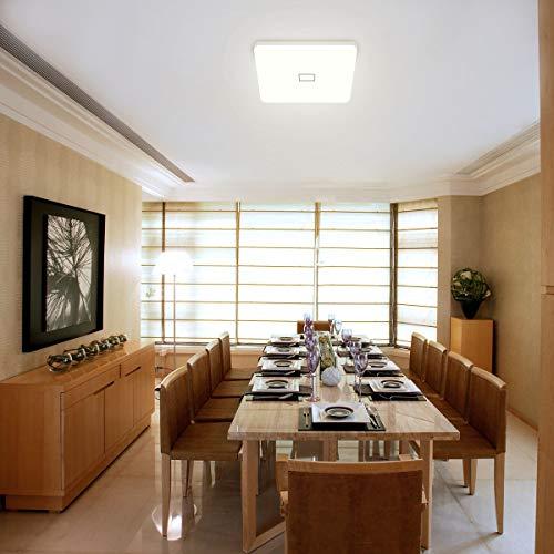 uesen 24W LED Lampada Plafoniera impermeabile a soffitto sottile Bianco naturale 4000K per soggiorno Sala da pranzo Camera da letto Bagno Cucina Balcone Corridoio