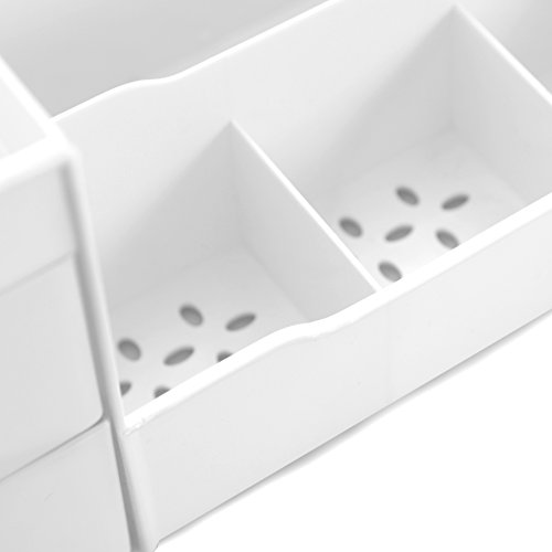 Uncluttered Designs Porta Cosmetici con Cassetti Bianco