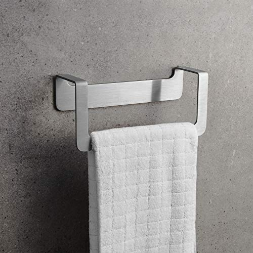 WEISSENSTEIN Porta asciugamani adesivo bagno 22 cm  Porta asciugamani da parete bagno  Porta asciugamani acciaio inox argento  Porta asciugamani bidet da muro