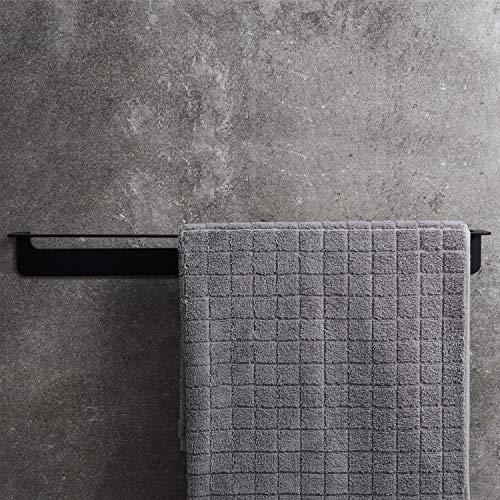 WEISSENSTEIN Porta asciugamani adesivo bagno da parete 45 cm  Portasciugamano da muro acciaio inox nero
