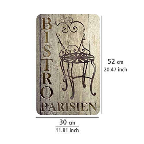 Wenko 2521310 Bistro Coprifornello Universale per Tutti i Tipi di Piani di Cottura Vetro Temperato Multicolore 30 x 1855 x 52 cm Set di 2