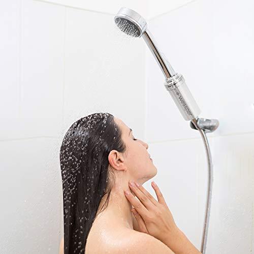 Wessper AWF SWRAnm P M anticalcare doccia filtro Argentometallizzato Argento