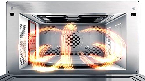 Whirlpool MWP 3391 SB Forno a Microonde Supreme Chef termoventilato combinato 33 litri Nero e Argento con griglia alta griglia bassa Double Steam piatto Crisp  maniglia