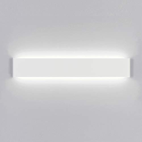 Yafido Applique da Parete Interno Moderno LED 60CM Lampada da Parete 20W Bianco Freddo Lampada Muro Perfetto per Camera da Letto Soggiorno Corridoio Bagno Scale