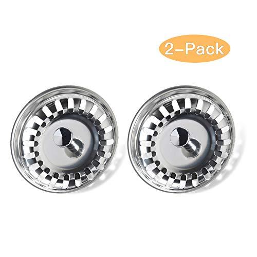 Yizhet 2 pezzi Filtro per lavello da cucinadoppio strato in acciaio INOX Filtro di scarico per scarico da 31 inch793 mm
