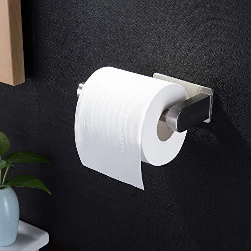 ZUNTO Porta Carta Igienica AutoadesivoAcciaio Inox Portarotolo Carta Igienica Senza Foratura Porta Rotolo Carta Igienica per Bagno e Toilette