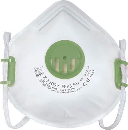 Respiratore Oxyline X 310 SV FFP3 R D Maschera di protezione riutilizzabile con valvola  10 pezzi