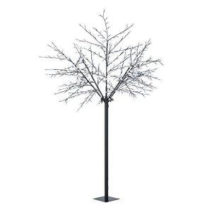 Blumfeldt Hanami CW 250  Decorazione natalizia albero illuminato illuminazione esterna design fiori ciliegio 600 LED bianco freddo 25 m altezza fili flessibili nero