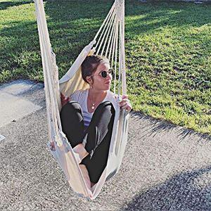 Chihee Amaca a Poltrona Sedia Amaca Grande Relax se lAltalena Trama in Cotone per Comfort  durabilit Superiore Perfetta per InternoEsterno casa Camera da Letto Giardino