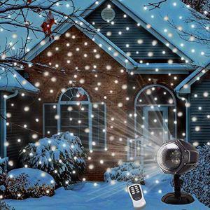 Luce di caduta della neve Natal Impermeabile Proiettore Fiocchi di Neve Spotlight LED Rotazione di Proiettore