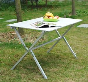 tavolo in alluminio per il giardino