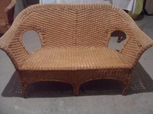 divano in vimini